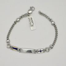 Bracelet en Argent 925 Rhodié avec Drapeaux Nautique Émaillés Fabriqué e... - $135.89