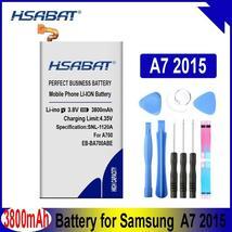 HSABAT EB-BA700ABE 3800mAh Battery for Samsung Galaxy A7 2015 A700 A700FD A700S  - $18.48