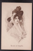 Queen Of Hearts Vintage Artist Signed Postcard Mary Russell - $4.98