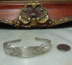 Art Deco Vintage Sterling Silver Ornate Spoon Bracelet by Oneida  - $39.57