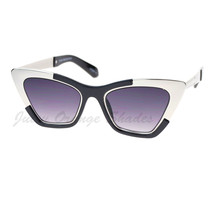 Retro Designer Sunglasses Trapezoid Cateye Runway Fashion Shades - $9.95