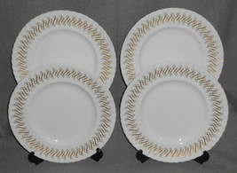 Set (4) Royal Worcester RHYTHM PATTERN Luncheon Plates MADE IN ENGLAND - $39.59