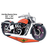 Arlen Ness Reproduction Motorcycle Cut Out Metal Sign 15.5x23.5 - $26.73