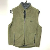 Gap fleece vest olive green gray kids boys XL 12 - $19.80