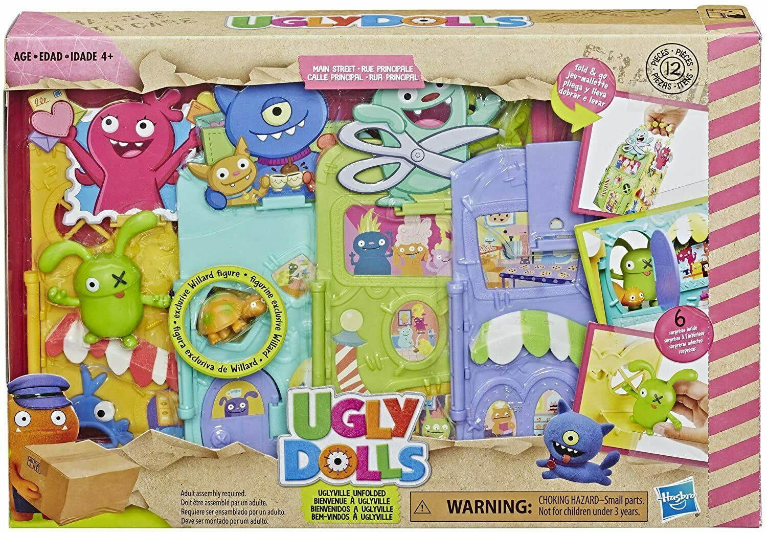Primary image for Ugly Dolls Uglyville Unfolded Main Street Playset and Portable Tote, 3 Figures