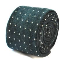 Frederick Thomas black and pin spot velvet style tie FT1905
