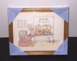 VTG Framed Wall Art Nursery Room Decor 2 Pc Set New Childrens Bedroom To... - $49.99