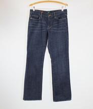 Medium rinse stretch cotton blend J. CREW hipslung bootcut jeans 8 - $24.99