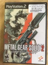 Playstation 2 PS2 Metal Gear Solid 2 Sons of Liberty w/ Case & Manual - $9.45