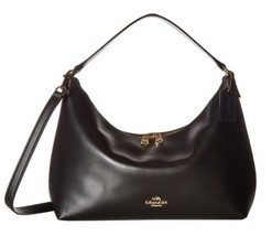 Coach East/West Celeste Convertible Hobo Pebble Leather Black - £145.76 GBP