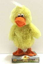 Chicken Dance Duck Ducky Plush Animated Dances Quacks Flaps Wings moves ... - $23.16
