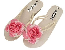 Fashion Summer Item, Rose Red Rose Flip Flop Beach Casual Sandals