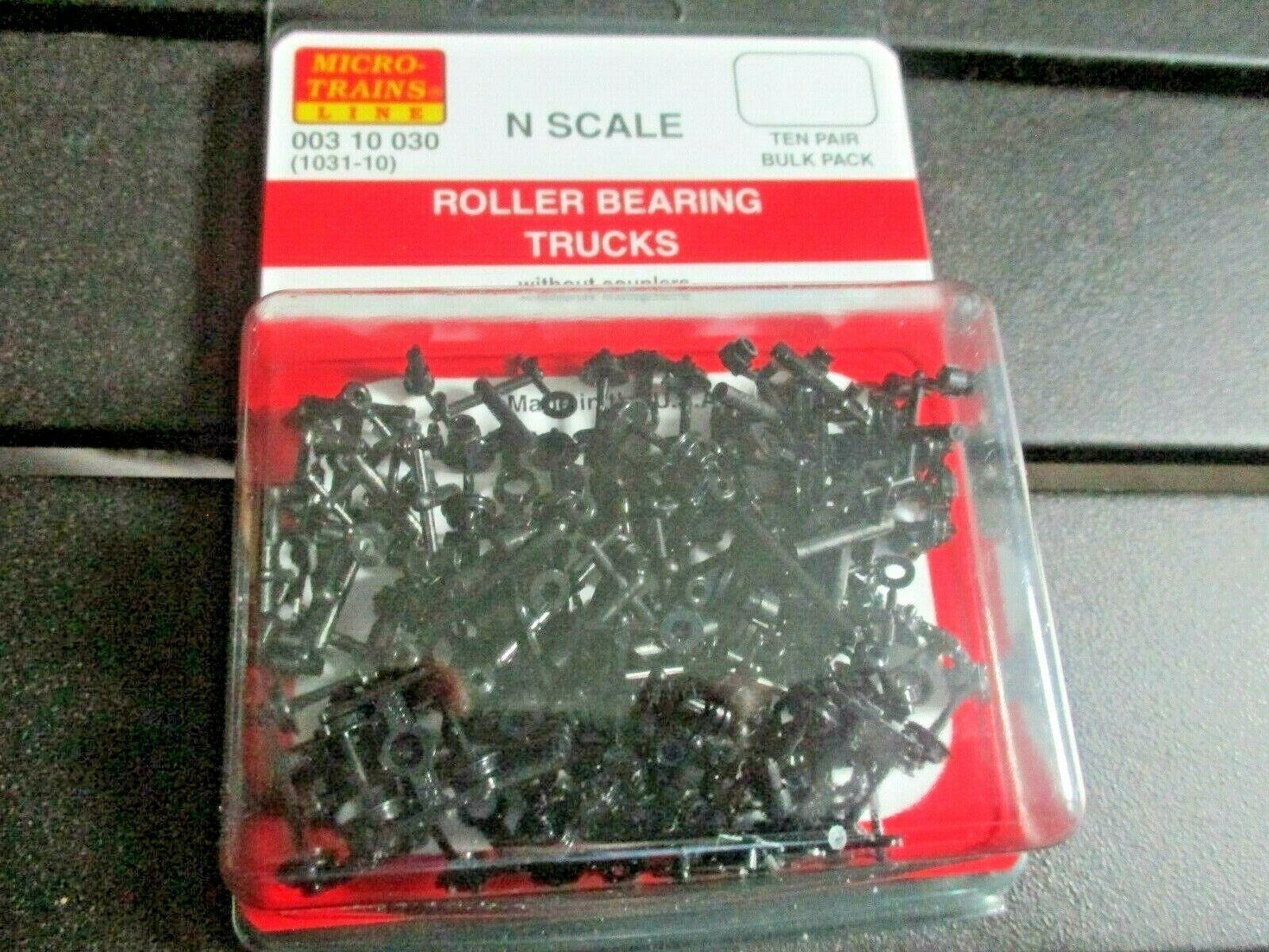 Micro-Trains Stock # 00310030 (1031-10) Roller Bearing Trucks w/o Couplers 10 PR