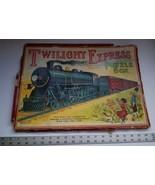 Twilight Express Puzzle Milton Bradley Antique Jigsaw Pieces Box Toy Tre... - $199.99
