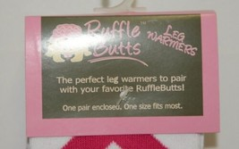 Ruffle Butts Infant Toddler Leg Warmers Fuchsia White Chevron Stripe One Size image 2