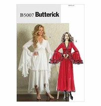 Butterick Misses Goth Dress Costume #B5007 Size(BB): 8, 10, 12, 14 - $20.58