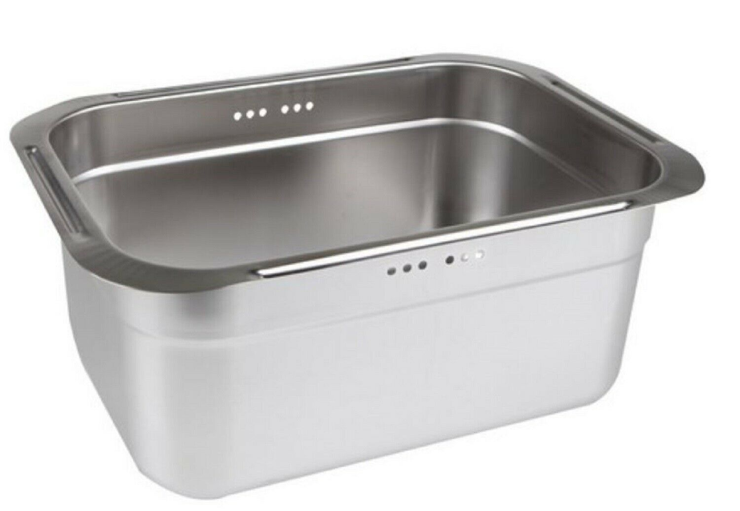 Incoc Stainless Steel Basin Bucket Dishpan Dish Washing Bowl Basket (Large)