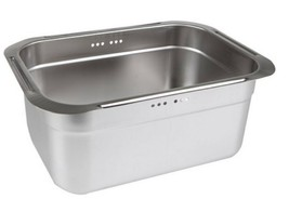 Incoc Stainless Steel Basin Bucket Dishpan Dish Washing Bowl Basket (Large) image 1