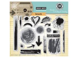 Hero Arts Brush Strokes Rubber Stamp Set #AC026