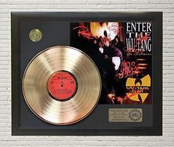 "WUTANG - ENTER THE WUTANG FRAMED GOLD LP Reproduction SIGNATURE DISPLAY""M4"" - $151.95"