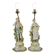 Vintage Bisque Figural Table Lamps - A Pair - $495.00