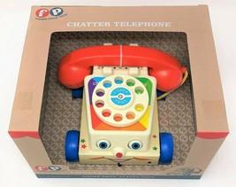 Fisher-price Chatter Telefon Zum Ziehen Bewegend Augen Klassisch Retro S... - $25.52