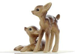 Hagen Renaker Miniature Deer Baby Fawn Standing & Lying Ceramic Figurine Set image 5