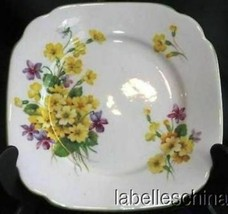 """Primulette 6"""" Bread / Side Plate Green Trim Made in England by Royal Albert - $34.60"""