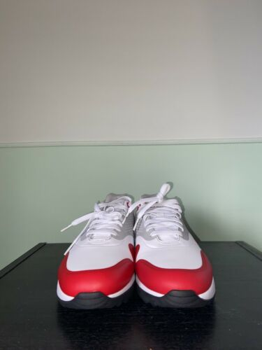 Nike Air Max 1 G White University Red Golf Shoes AQ0863-100 Size 10.5 image 2