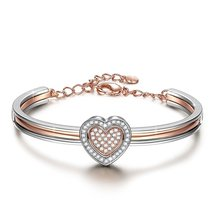 "♥Valentines Day Gifts♥ J.NINA ""Cupid Heart"" 7 Inches Rose-Gold Plated He... - $59.95"