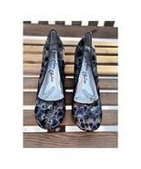 Irregular Choice Titania Low Court Shoe Heels Sz 8.5 Fans Art Deco Womens - $123.75