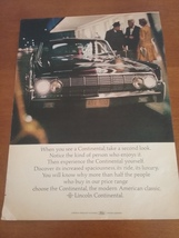 Vintage 1964 Lincoln Continental Life Magazine Ad - $9.95
