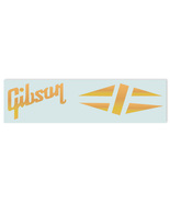 Gibson® Les Paul® Diamond Waterslide Headstock Decal GOLD FOIL - $8.99
