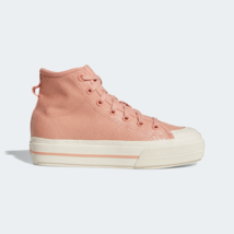 adidas Originals Womens Nizza RF Platform classic Shoes blush - $110.43