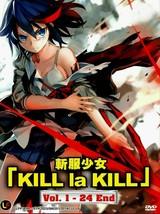 Kill La Kill ( Vol. 1-24 End ) English Audio DVD Ship From USA  - $22.50
