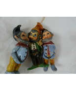 "Gnome Elf Dwarf Christmas Holiday Ornaments Vintage Macau Hong Kong 3"" - $14.84"
