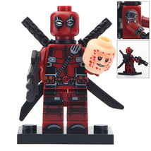 Custom Deadpool Minifigure Marvel Comics Superhero fits Lego - $3.49