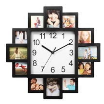 Photo Frame Clock Picture Collage 12-P Display Wall Clock Photowall Home... - $20.18
