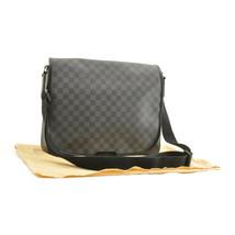 LOUIS VUITTON Damier Graphite District GM Shoulder Bag N41271 LV Auth 9819 - $1,080.00