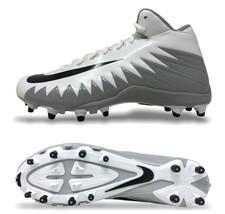 Nike Alpha Menace Varsity Mid Mens Football Cleat Size 11 White/Black 88... - $69.30