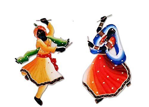 Antique Wall Hanging Dandiya couple Indian Handmade Room Decorative Home Dcor