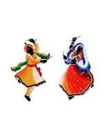 Antique Wall Hanging Dandiya couple Indian Handmade Room Decorative Home... - $128.38