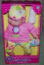My Sweet Love Baby Doll in Pink Dress with Bottle and Sounds New - $16.88