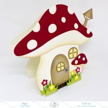 Mushroom House Folding Card Die Set. Elizabeth Craft Designs image 2