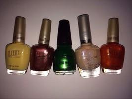Cover Girl Milani Sinful Colors 5 bottles NEW Nail Polish pink yellow green - $8.56