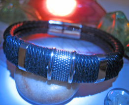 Haunted BRACELET PROTECTION AGAINST CURSES MAGICK 925  LEATHER WITCH Cas... - $32.00