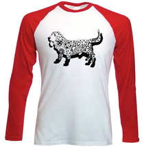 Basset hound b - NEW RED LONG SLEEVES COTTON TSHIRT - $19.53