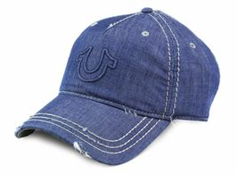 True Religion Men's Vintage Distressed Cotton Horseshoe Trucker Hat Cap TR2095 image 6