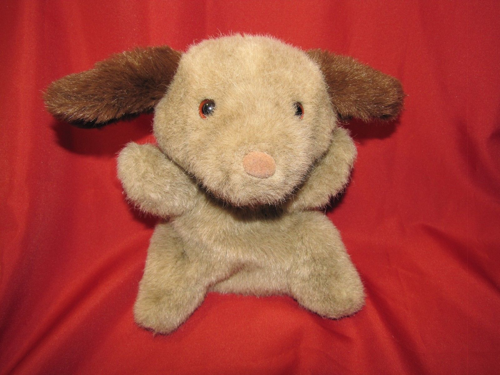COMMONWEALTH STUFFED PLUSH HAND PUPPET HUG A PLUSH 1989 TAN BROWN PUPPY DOG image 2