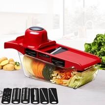 New Mandoline Slicer Vegetable Cutter Stainless Steel Blade Dicer Kitche... - €12,42 EUR+